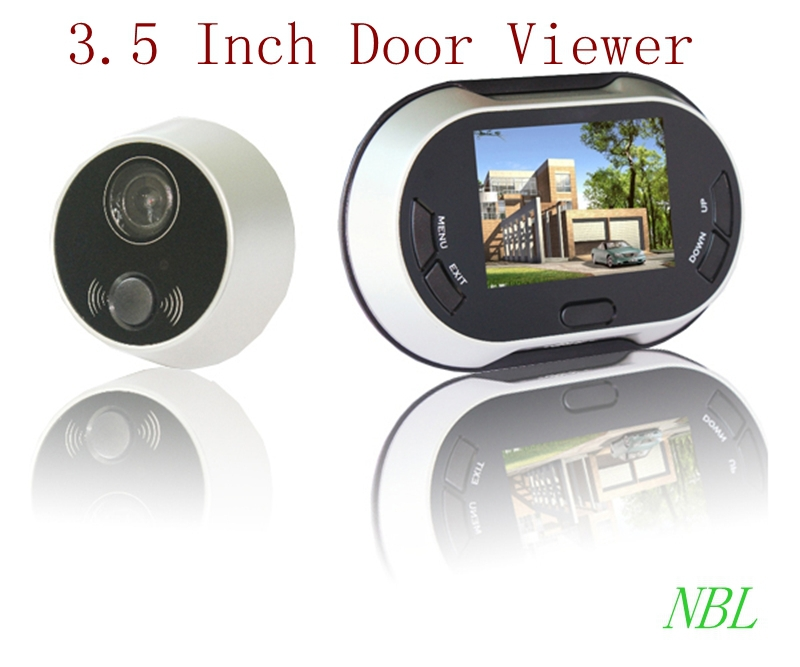 3.5 inch 170 Degrees TFT LCD Color Digital Door Viewer Peephole Home Security Doorbell Camera Monitor Door Peephole Viewers(China (Mainland))
