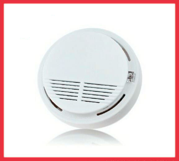 wireless smoke detector fire alarm sensor monitor for home security photoelec. Black Bedroom Furniture Sets. Home Design Ideas