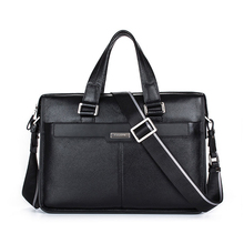 Genuine Leather Handbag Brand Cowhide Men Briefcase Business Leather Laptop Briefcase Shoulder Bags Men Messenger Travel Bag
