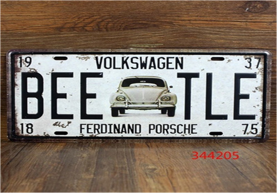 15*30cm Luxury cars License plate Vintage Metal Sign Tin Poster Bar Cafe Shop---VOLKSWAGEN ZX-E0065(China (Mainland))