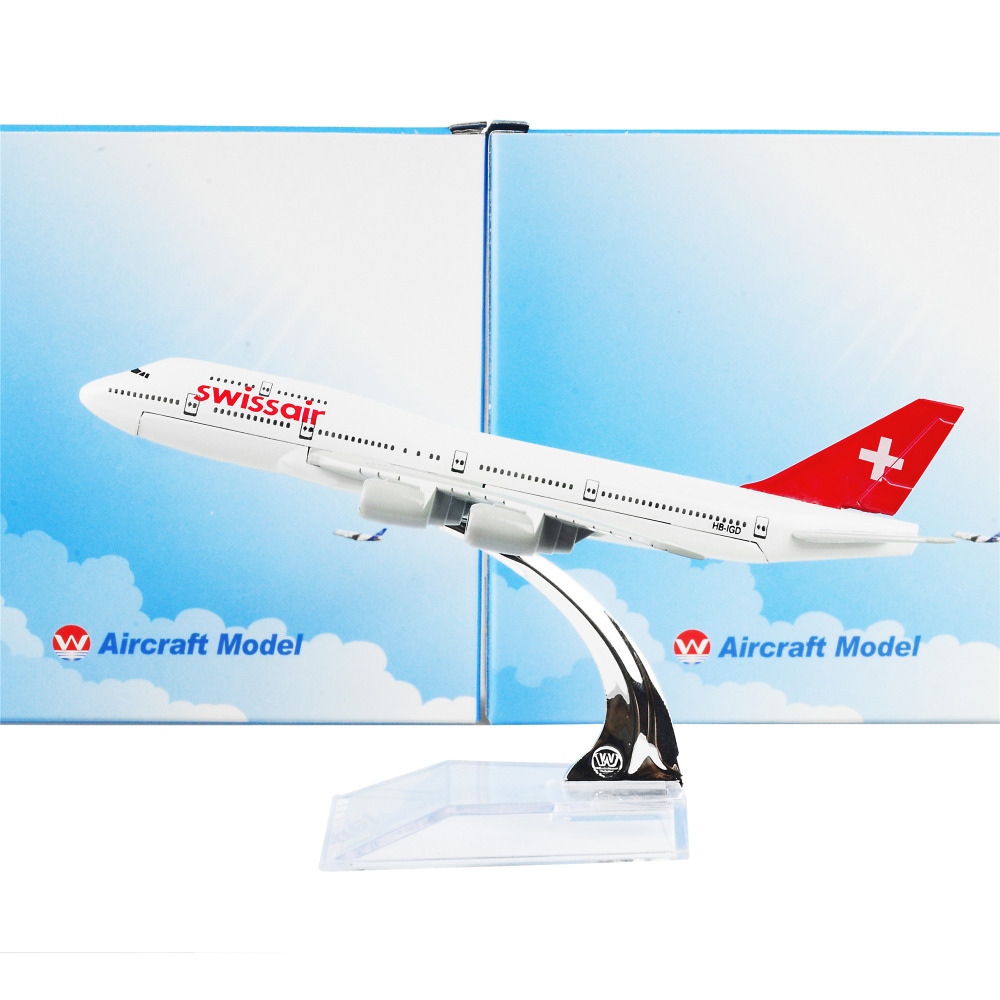 Swiss Air Lines Boeing 747 16cm Metal Model Airplane kits Birthday Gift Home Decoration Diecast(China (Mainland))
