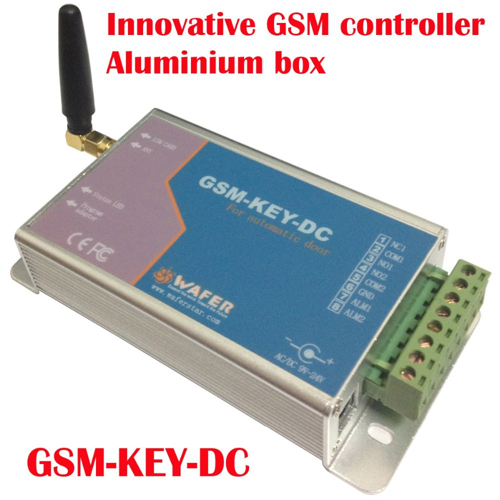 GSM-KEY-DC200 Aluminium box GSM controller SMS control box relay output controllerfor sliding gate and automatic door<br><br>Aliexpress