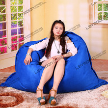 FREE SHIPPING 140*180CM ocean ble bean bag covers LUXURY SUEDE bean bags for babies garden bean bag