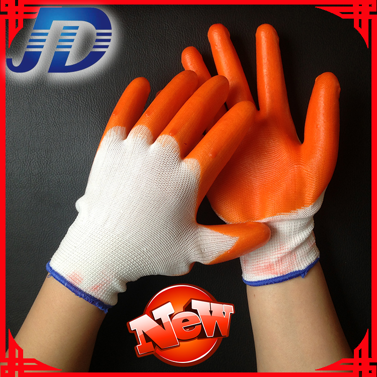 12 pairs of loading PVC hang half working gloves safety gloves(China (Mainland))
