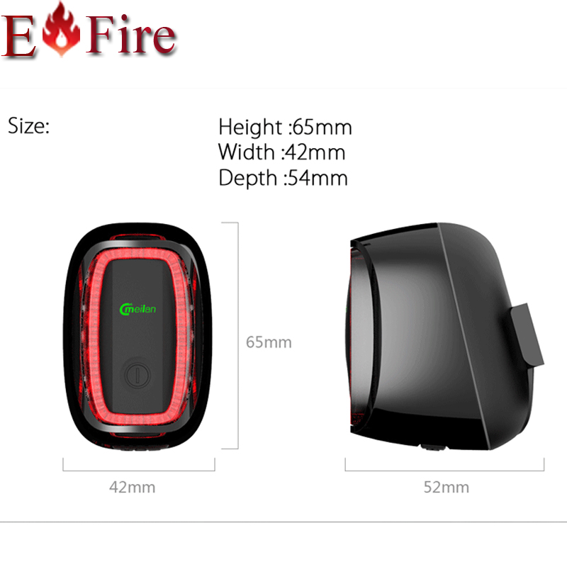 New Brand mading Smart Bike tail Light Bicycle rear back led Light  rechargerable 6models CE RHOS FCC Certification Meilan X6