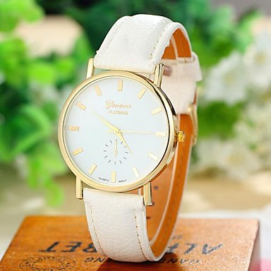 Hot Sale New Brand Wristwatch Women Elegant Simple Analog Quartz Watch Fashion Trendy Casual Watch PU Leather Women Men Watch(China (Mainland))