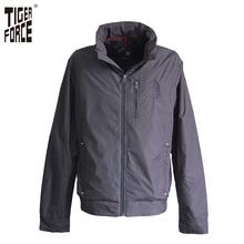 TIGER FORCE 2017 Brand Men Casual Jacket Spring Fashion Jacket Coat Zipper Stand Collar Hiding Hood European Size Free Shipping(China (Mainland))
