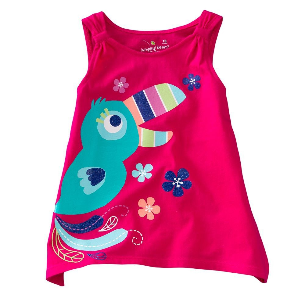 18M-6T Baby Girls Clothes Summer T-Shirts for Girls Bobo Choses 2016 New Child T Shirts Infant Children Kids Clothes Clothing(China (Mainland))