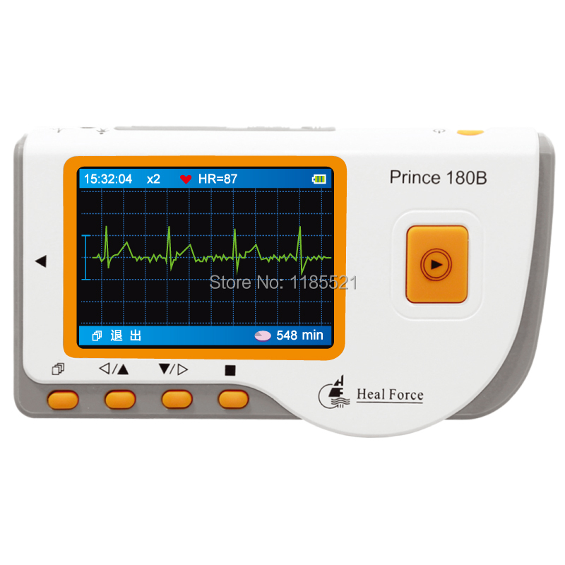 2016 hottest Handheld Easy Portable ECG Heart testing Software Electro CE FDA approved HEAL FORCE PRINCE 180B(China (Mainland))
