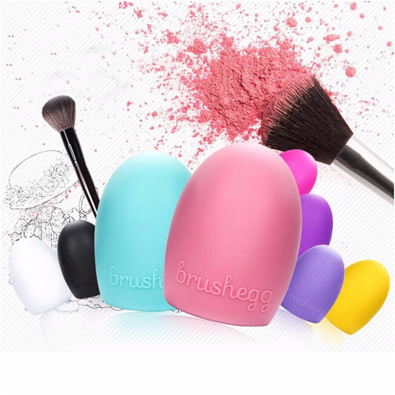 2016 New Hot Sale Makeup Silicone face Cleaning Brush Cosmetic Egg Brush Cleanser Beauty Make up Cleaner Clean Tool Brushegg(China (Mainland))