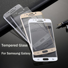 Full Cover 3D Curved Front Tempered Glass For Samsung Galaxy S3 S4 S5 S6 S7 Edge note 2 3 4 5 A5 A7 Screen Protector Film(China (Mainland))