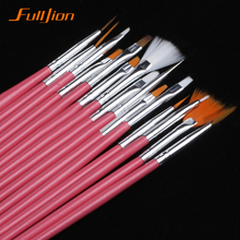 15/7Pcs /set Nail Art Polish Painting Draw Pen Brush Tips Tools Set UV Gel Cosmetic Nail tools pinceis nail brush nail makeup(China (Mainland))