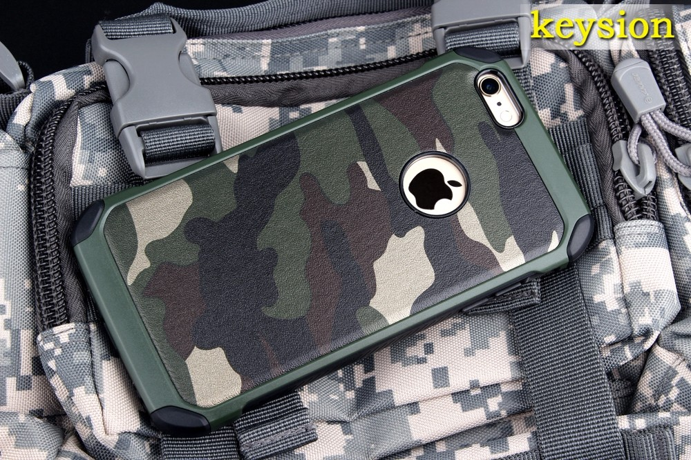 "Case for iPhone 6 Plus 6S Plus Special Camouflage Style 2 in 1 Hard Silicon Back Phone Cover for iphone6+ 6s+ 5.5"" New Arrival"