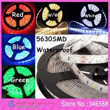 Buy 5M IP65 Waterproof 12V 5630 LED Strip Light 60LED/M Flexible 5630 SMD DC12V Tape Cool White Warm White Red Blue Green Colors for $8.50 in AliExpress store