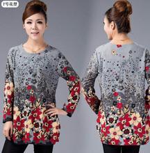 20 COLOR! XL,XXL,3XL,4XL,5XL! 2016 New Winter Big Plus Size Shirt for Women Camisas Blusas Cotton Woman Printed Blouse Top Tunic(China (Mainland))