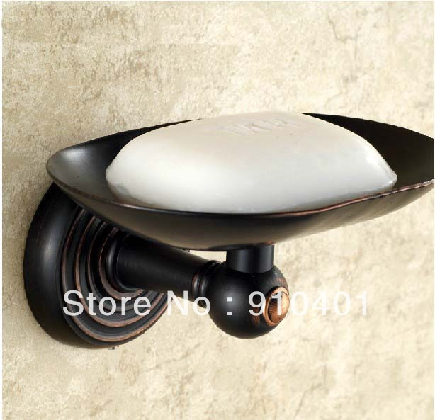 Free Shipping Wholesale And Retail Promotion Oil Rubbed Bronze Bathroom Accessories Solid Brass Wall Mounted Soap Dish Holder(China (Mainland))