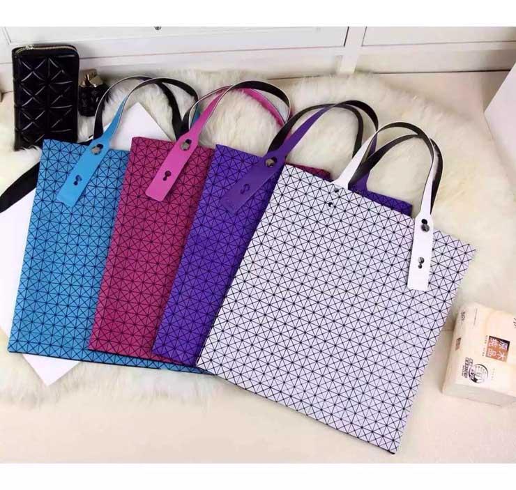 Miyake women's handbag mirror bao chain bag shoulder bag handbag plaid women's geometry 10x10(China (Mainland))