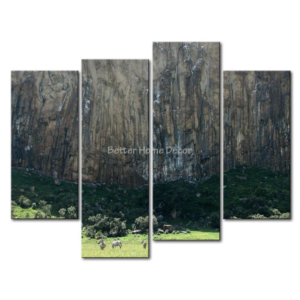 3 Piece Wall Art Painting Zebras In Hell'S Gate National Park Kenya Print On Canvas The Picture Animal 4 5 Pictures(China (Mainland))
