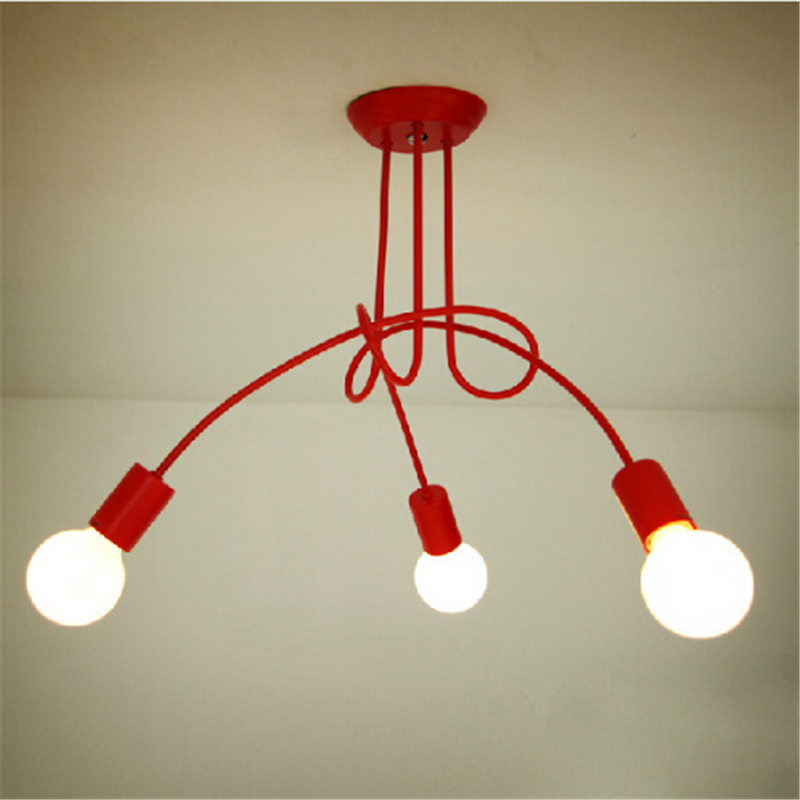 Фотография Simple creative personality living room ceiling lamp Iron Art shop office bedroom ceiling light
