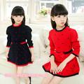 2016 new girls fashion sweet children girl brand dress for age 3 14 kids girl winter