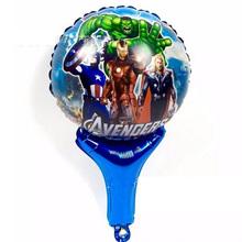 Воздушный шар игрушки Мстители Marvel мультфильм ручной Фольги воздушный шар Воздушные Шары печатные ручной воздушный шар игрушки для Малыша Подарок партия макет