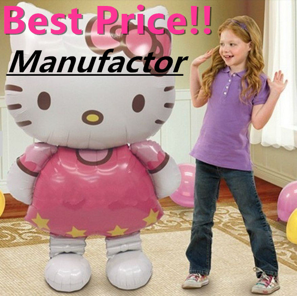 oversize Party balons inflatable globo Hello Kitty inflable happy birthday balloon send hello kitty stickers(China (Mainland))