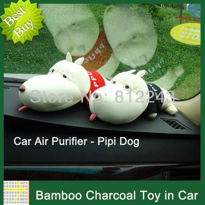 New Car Accessories Decoration Purify Radiation Perfume Parfum Car Air Freshener Dog Bamboo Charcoal Bag 20001(China (Mainland))
