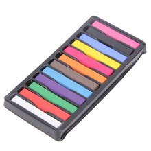 6 Colors/12 Colors Temporary Super Hair Dye Kit Colorful Chalk Portable Hair Color Stick Alcohol-Free Styling Chalks Hair Pastel(China (Mainland))