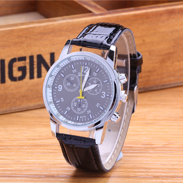 The new leather strap watch, 2016 men watch brands, business style, leisure fashion, high-end brand watches, men's business(China (Mainland))
