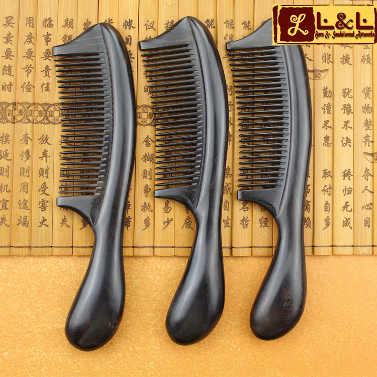 Fashion Natural Ebony BoutiqueComb Excellent Quality With Gift Bag hair care massage brush Tangle Hair tools Wholesale L-998<br><br>Aliexpress