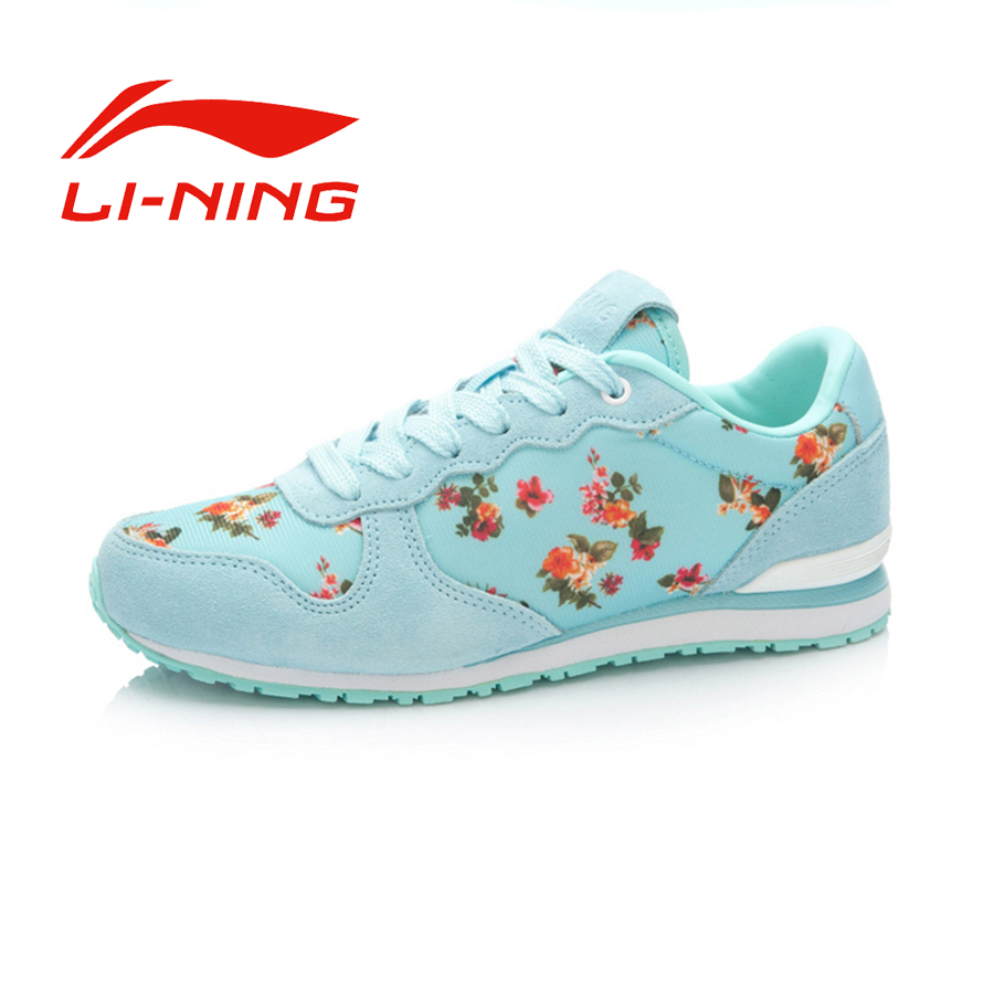 Li-Ning Women's Anti-Slip Lace-Up Damping Training Shoes Breathable Protable Outdoor Sports Sneakers