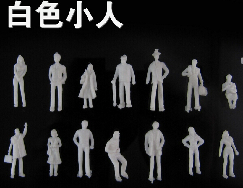 1 50 scale 3 6cm ABS plastic white font b figure b font for architectural model