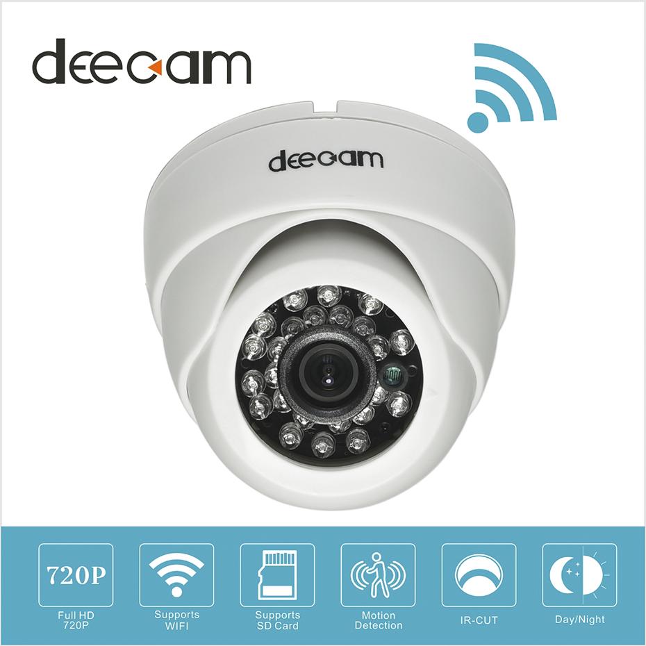 deecam wireless ip camera dome wifi hd 720p sd card home. Black Bedroom Furniture Sets. Home Design Ideas