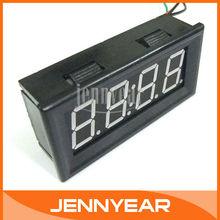 "Digital Electronic Clock Red LED Car Motorcycle Auto LED Panel Time Watch 0.56"" DC 12V 24V Clock #090815(China (Mainland))"