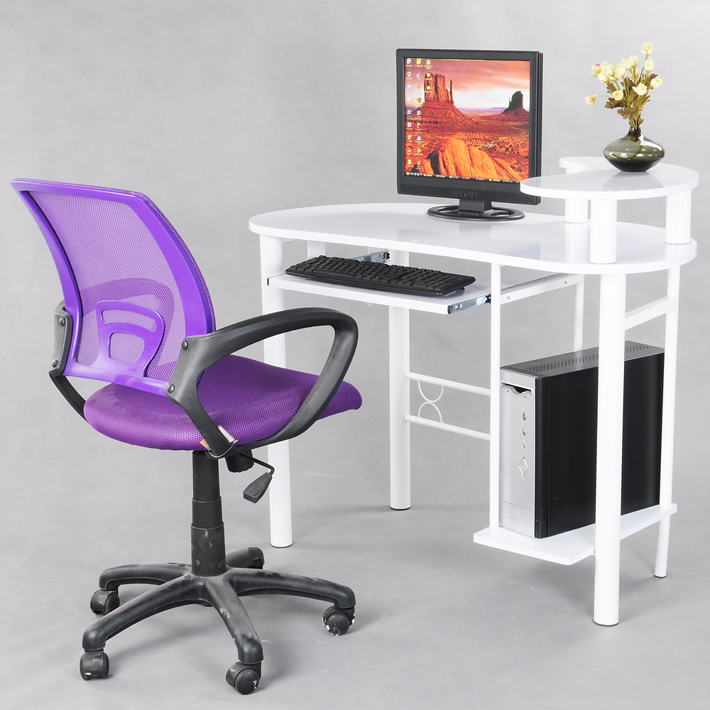 High Quality Purple Office Computer Chair With Arms With Fabric Pads Mesh Cha