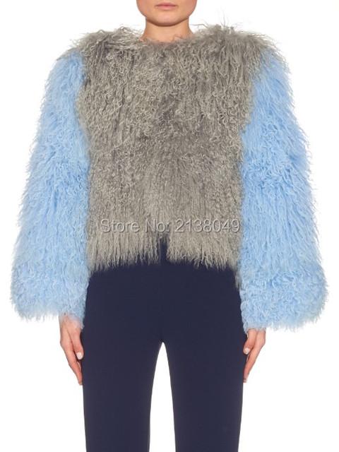 FC04202 Новое Прибытие женщин горячей продажи Монгольский ягненок мех короткое пальто