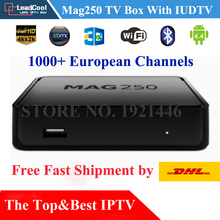 Mag250 TV Box+1 Year Subscription IUDTV IPTV 1000 Europe Channels Sky It De UK Turkish Sweden Serbia Greece Fast DHL Shipping