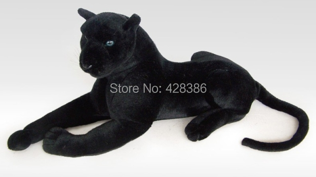artificial black Leopard plush stuffed Panther simulation animal classic toys children gift - Truman Hua's store
