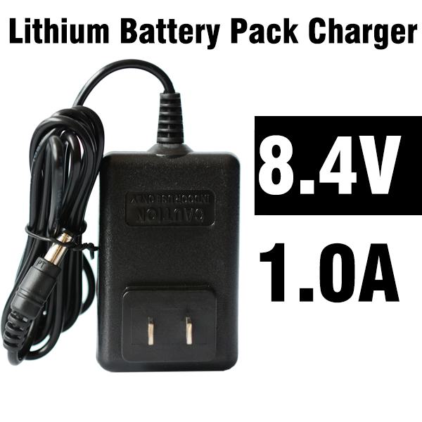 100% High 5.5mm X 1.2mm Plug 8.4V 1A 18650 Battery Pack Charger Lithium Li Ion Battery Charger US/EU/ Plug