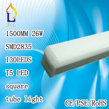 FedEX Free shipping 26w 1500mm SMD2835 130leds LED Tube Light led wall lamp Warm Cold White fluorescent T5 lamp 15pcs/pcs(China (Mainland))