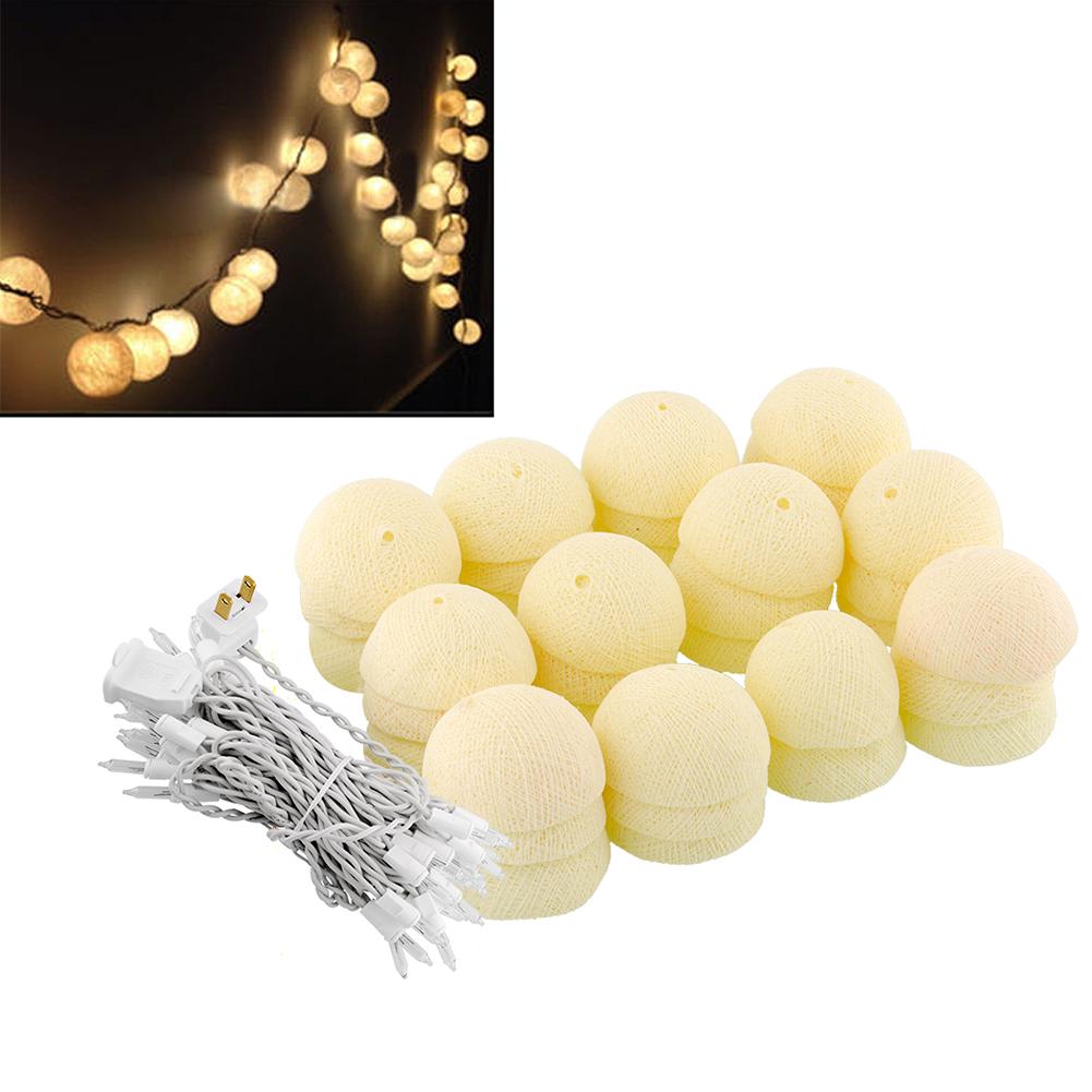 35 Aladin LED Romantic Cotton Ball Creative String Light Ivory White Party Patio Tree Decor Decoration<br><br>Aliexpress