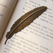 Retro Vintage Feather Bookmarks for book Gold&bronze book accessories Office&School Supply Bookmarks(China (Mainland))