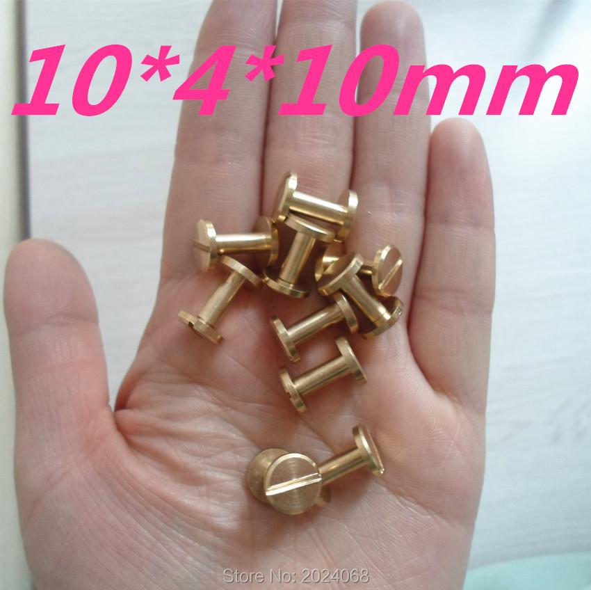 HOT!! 15 pcs Bagagem de Couro de metal Craft Sólidos Prego Parafuso Rebite 10mm Cabeça Chata Duplo Cinto/cinta Rebites de Cobre grande qualidade(China (Mainland))