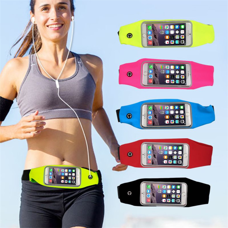 "New outdoor sports gym waist pack pouch waterproof running bags wallet pocket for iphone 6s 5s 5c 4s phone Case Universal 5.1""(China (Mainland))"