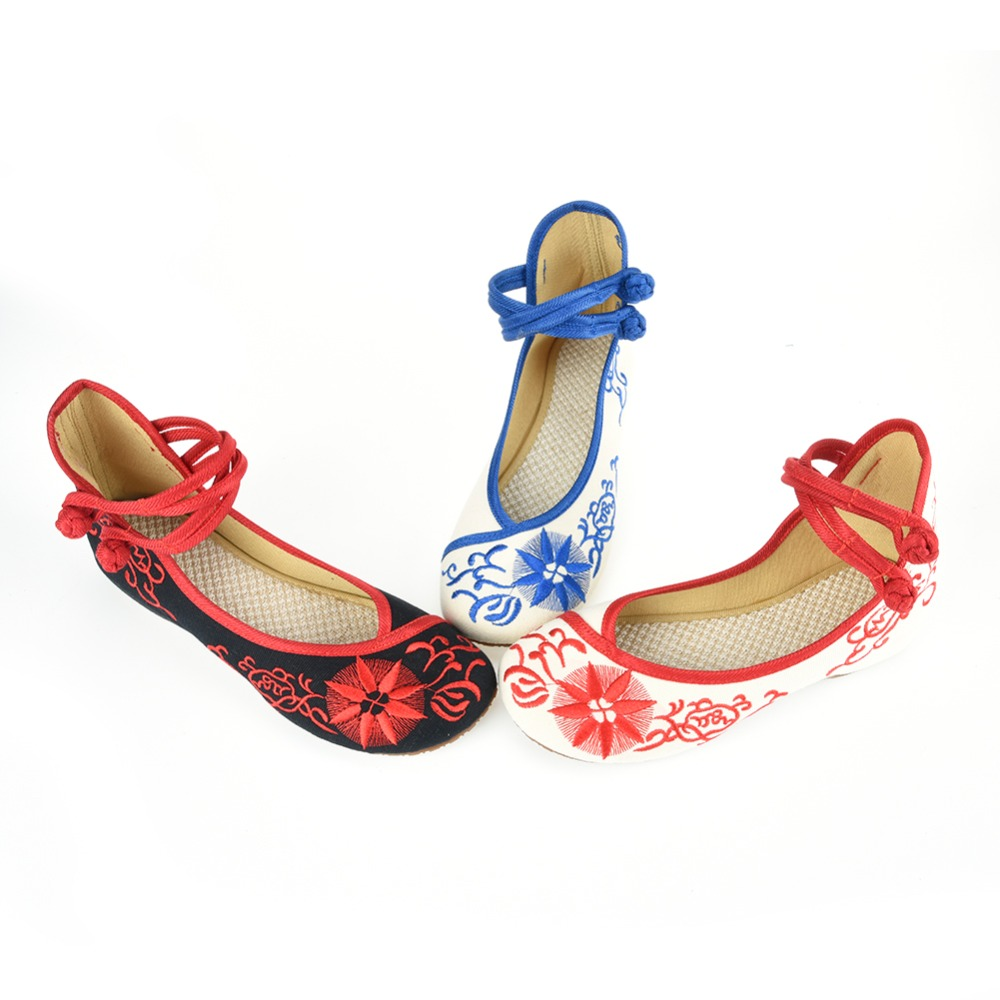 2016 Fashion Women Shoes Casual Flats,Chinese Flower Embroidered cloth Shoes The sun flower increased embroidered shoes # WS018<br><br>Aliexpress