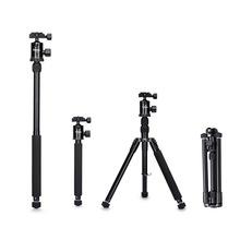 Selens 150cm 62 Black Professional Tripod Photography Monopod for DSLR Camera Portable Lightweight Travel Tripode Stand