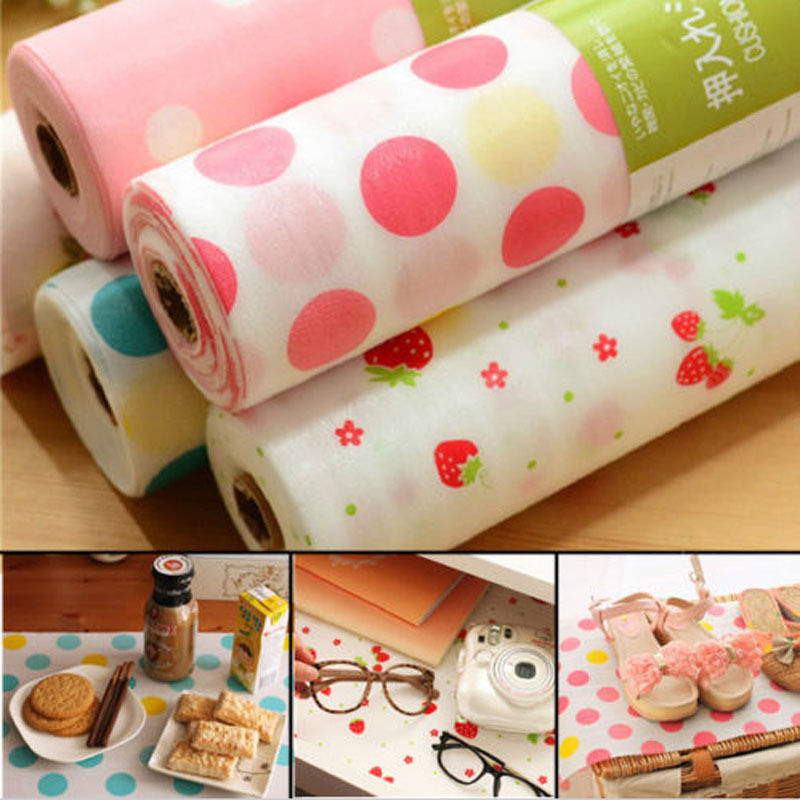 Popular Polka Dots Shelf Contact Paper Cabinet Drawer Liner Kitchen Table Mat(China (Mainland))