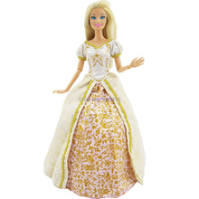Free Shipping Handmade Clothes For Rapunzel Tangled  Princess Wedding  Dress Party Outfit   For Barbie Doll Girl Gift Baby Toy(China (Mainland))