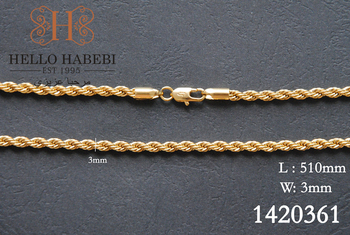 Fashion jewelry 18K Solid Yellow Gold Necklace Chain,Solid Gold Necklace Chain free shipping 1420361