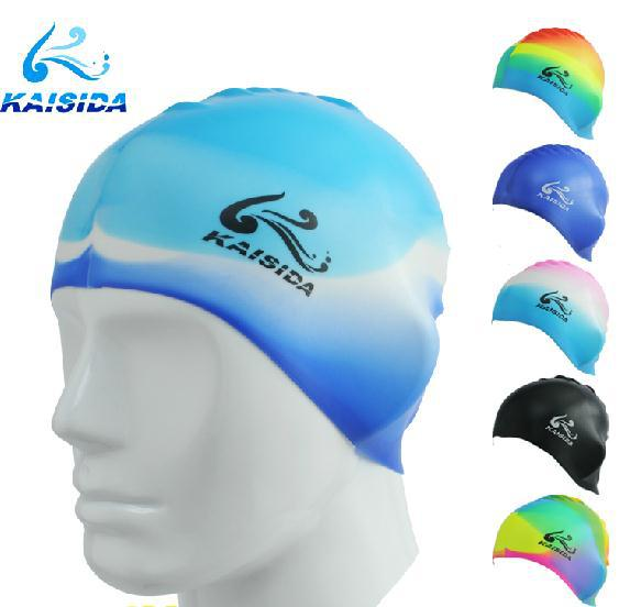 Super Elastic Silicone Gel Cap Waterproof Swimming Cap Men And Women Free Shipping(China (Mainland))